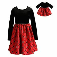 Girl and Doll Matching Dress Christmas Dress Set Dollie Me for American 18 Dolls