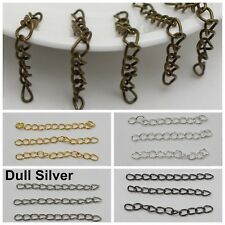 100 Extended Extension Jewelry Chains Tail Links Jewellery Finding Silver Gold
