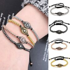 Fashion Evil Eye Charm Copper Ball Beads Adjustable Bangle Bracelet Jewelry Gift