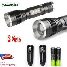 X20000LM  XM-L T6 LED 18650 Zoomable Flashlight ^djustable Focus Lamp Hot ^