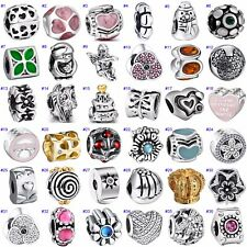 New Brand Beads Charms Zircon Jewelry Fit Diy European 925 Silver Bracelet Chain