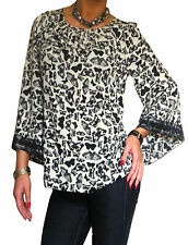 Ladies Tunic Top Long Sleeve Shirt Size 10 12 14 16 18 20