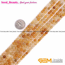 Round Gemstone Assort Jade Seed Beads for Jewelry Making strand 15""