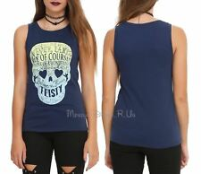 New Disney Peter Pan Neverland Skull Girls Muscle Tank Top Shirt Juniors M-L