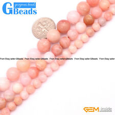 "Natural Pink Opal Round Beads For Jewelry Making Free Shipping Strand 15"" 6-10mm"