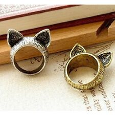 Old New Womens Retro Accessories Cat Jewellery Antique Ring