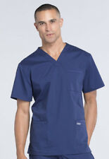 Navy Blue Cherokee Scrubs Workwear Professionals Mens V Neck TALL Top WW695T NAV