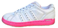 Adidas Low Cut Casual Lace Up Womens Girls White Sports Fitness Trainers Shoes
