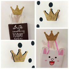 KQ_ Nordic Crown Shape Hook Wall Hangers Rack Organizer Kids Room Hanging Decor