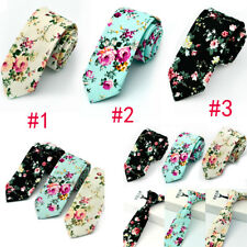 Mens Floral Paisley Cotton Skinny 6cm Necktie Party High Quality Tie 3Stype top!