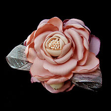 Beautiful Live Like Colorful Flower Brooch & Clip / Hair Band