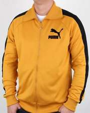 Puma T7 Vintage Track Top in Mineral Yellow & Black - 80s retro tracksuit jacket