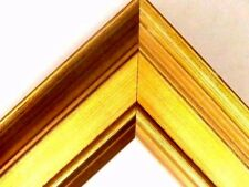 """2 1/4"""" Wide High End Gold Plein Air Wood Picture Frame-Custom Standard Size"""