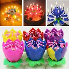 Fashion Lotus Flower Festival Birthday Cake Decorative Music Candles TXCL 07