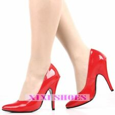 WOMEN SHOES CLASSIC PUMPS PATENT RED PINK 12CM HEEL EVENING PARTY PROM