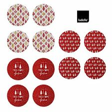 Set of 4 Christmas Hardboard Round Table Placemats 33 cm Diameter by Ladelle