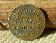 1910 GOLDEN COLORADO (MINING, COORS BREWERY) WILLIAMS BILLIARD HALL CIGARS TOKEN