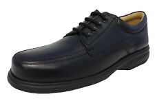 Mens Roamers Leather Wide Fuller Fit Lightweight Lace Up Shoes Black Size 6-14