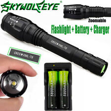 Zoomable 20000LM 5Mode  XMLT6 LED Flashlight Lamp 18650Battery+Charger VJ<