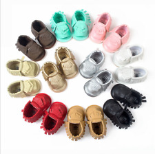 Candy Color Baby Infant Toddler Sandals Girl Crib Soft Sole Tassel Shoes 0-18M