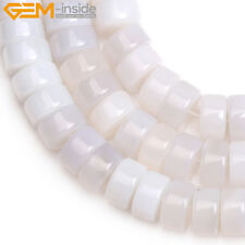 Natural Rondelle Agate Loose Stone DIY Spacer Beads Jewelry Making Strand 15""