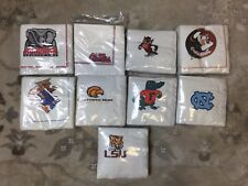 NEW Auburn Flordia UNC NCS Ole Miss College Gators Alabama  NCAA Napkins Lot 6