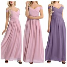 Maxi Long Chiffon Evening Formal Party Prom Women Bridesmaid Dress Ball Gown