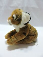 Animal Alley Tiger Plush Stuffed Toy Brown Black Stripes Original Tags Soft 10""
