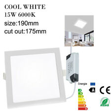 SQUARE RECESSED CEILING LED LIGHT FLAT DOWNLIGHT PANEL ULTRA SLIM LAMP BULB HOME