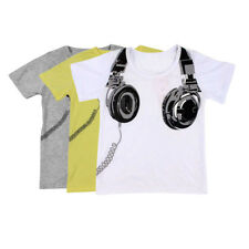 Toddler Kids Clothes Baby Boys Short Sleeve Cotton T-shirt Summer Tops 2-7T US
