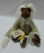 Boyds Monkey Plush Chuck Darwin Jointed Tan Brown Ape Banana 11""