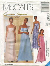 McCalls 9287 Misses Formal Evening Dress & Scarf Sewing Pattern