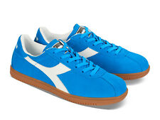 Diadora men's Tokio sneakers lace up athletic shoes in azure suede leather