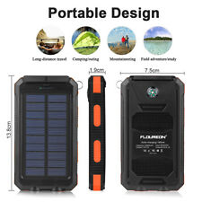10000mAh External Backup Battery Pack Solar Power Bank Dual USB Panel Charger