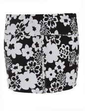 UK Ladies Mini Short Skirt Floral Womens Black White Summer Party Bodycon