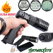 Tactical 16 LED Lamp Rechargeable 80000LM Flashlight USB Charger T6 LED Torch