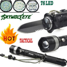Military Tactical T6 LED Light 80000 Lumens 18650 Flashlight Torch Camping Light