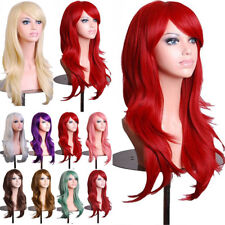 Women Cosplay Full Wig Long Straight Wave Synthetic Hair Heat Resistant Dress #