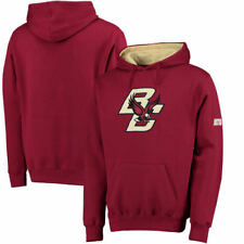 Boston College Eagles Stadium Athletic Big Logo Pullover Hoodie - Maroon