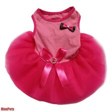 Princess BOW Pink Cute Dog Dress Tulle Skirt Pet Apparel Dog Clothes XS S M L