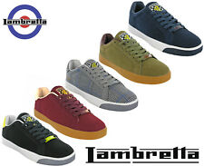Lambretta Mens Trainers Casual Retro Lace Memory Foam Crossfire Shoes UK 7 - 12