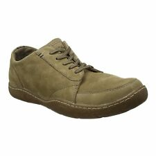 Hush Puppies FURMAN SWAY Mens Soft Nubuck Leather Lace Up Shoes Casual Taupe