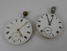 TWO VINTAGE TOP WIND POCKET WATCH MOVEMENTS WORKING SPARES /REPAIRS