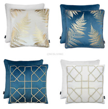 Luxury Quality Soft Velvet Metallic Embroidered Scatter Filled Cushion Covers