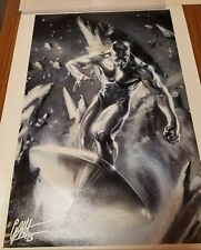 Rise Marvel LE Giclee on Canvas Silver Surfer Signed By Gabrielle Dell'Otto