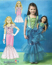 "Girl's & 18"" DOLLS Costume EVENING GOWNS Pattern Sz.3-8 McCalls 7175 MP449 UNCUT"