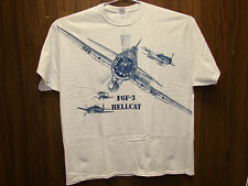 F6F Hellcat WW2 WWII Airplane T-shirt with HUGE print on front -- Youth & Adult