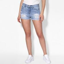 Ladies Vintage Ripped Women High Waisted Faded Denim Shorts Festival Jeans Pants
