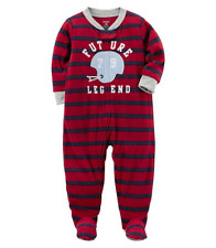 NWT ☀FOOTED FLEECE☀ CARTERS Boys Pajamas FUTURE LEGEND  New    24m  2T  3T