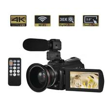 AC3 4K UHD 24MP Digital Video Camera Camcorder DV Recorder+Wide Angle Lens Y1U6
